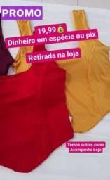 Blusa estilo croped com bojo promoção 19.99