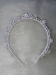 Tiara de luxo branca