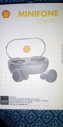Mini Fone Sem Fio Shell