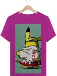 camiseta pokemon pikacku hokage