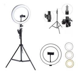 Iluminador Ring Light Profissional 10 Polegadas 26cm com Tripé 2,00mt