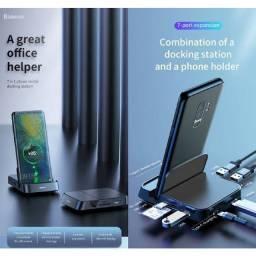 Dock e Hub baseus 7 em 1 para dex Samsung ,ou celular cm dex
