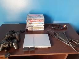 PlayStation 2 Original - Prata (Raro)- Destravado e completo