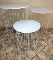 Trio cilindro de mesa de ferro