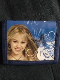 Carteira Feminina Hannah Montana com velcro.