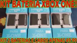 Kit com 2 Baterias para Controle de Xbox One (Com Cabos Usb)