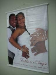 Faça sua Foto Impressa em Lona Para Casal, Família, Cantores, Bandas, Igrejas