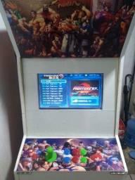 Fliperama 2 telas Novo adesivado 1000 jogos