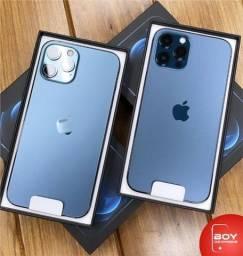 iPhone 12 Pro Max Apple (256GB) Azul-Pacífico tela 6,7, Câmera tripla 12MP iOS