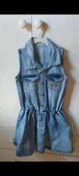 Título do anúncio: Vestido Lilica Ripilica, jeans, TAM.6
