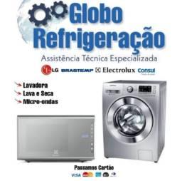 Globo refrigeração e máquinas de lavar