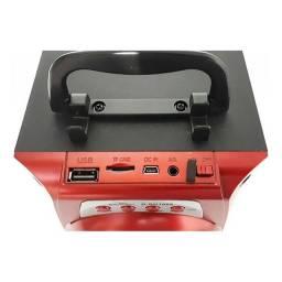 Caixa de som Grasep ModeloD-BH1066 - Bluetooth- Pendrive - Cartão SD - Display Led