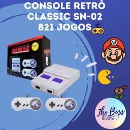 Console retrô Classic 821 jogos