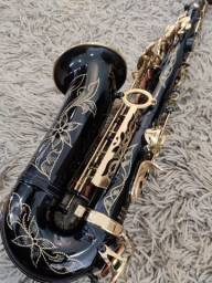 Sax Alto YAMAHA Custom YAS-875EX Mib R$ 2.499,90 Black Golden