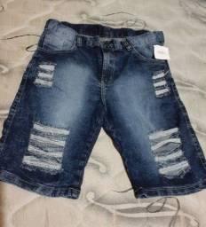 Bermuda jeans nova na etiqueta