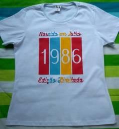 Camisa personalizada Nascida em Julho