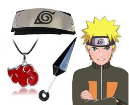 Kit Naruto: 1 bandana + 1 kunai + 1 pingente