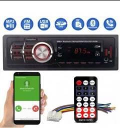 Frete Grátis! Automotivo Rádio MP3 Bluetooth, FM, USB, Cartão SD instalação simples!