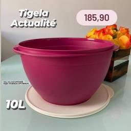 Tupperware Tigela/Vasilha Grande Actualité 10 litros vinho/rosa - Nova e Original