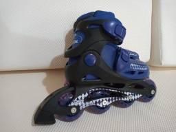Patins Roller In-line (Azul Marinho) (Ajustável do 29 ao 32) BelSports