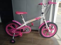 Bicicleta infantil aro 16 da Caloi Ceci