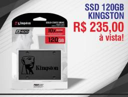 Disco Sólido Interno Kingston Sa400s37/120g 120gb Novo Lacrado