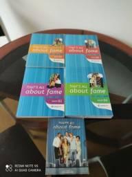 Curso completo de inglês wiseup, that's all about fame, com quatro livros mais 6 cds