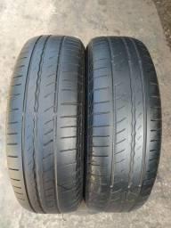 Par de pneus 175/70/14 Pirelli em ótimo estado