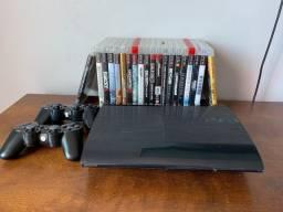 PS3 com 20 jogos