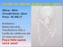 Lustre de Cristal Acrílico Ref. 002A