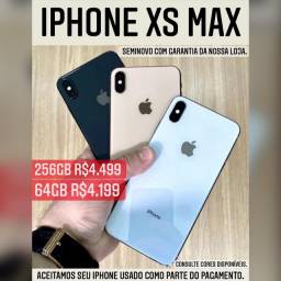 IPHONE XSMAX SEMINOVO 64GB/256GB
