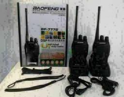 Kit 2 Radio Comunicador 777s Profissional Ht Uhf 16 Canaisn<br>