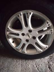 Vendo ou troco Rodas 15 pneus bons