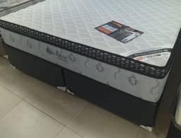 Kit Cama Box e Colchão Tamanho Queen Size Petrue Premium Ortobom