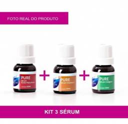 Kit Seruns Para Dermaroller vitamina C + colágeno + ácido hialurônico