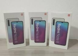 Xiaomi Redmi Note 8 Preto e Azul 64Gb Gio Celulares Blumenau