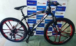 Bicicleta aro 29 com rodas de magnésio Shimano