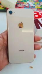 IPhone 8 64 dourado pra vender logo