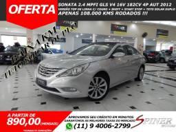Hyundai Sonata 2.4 Mpfi GLS V4 182cv 4p Aut Top de Linha C/ Couro + Teto Solar Baixa KM