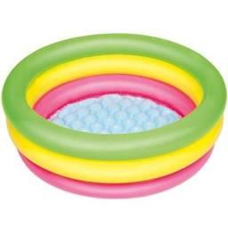 Piscina inflável infantil Summer Set Bestway de gomos 41L colorida