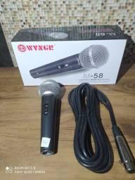 Microfone Com fio M-58 PROFISSIONAL NOVO