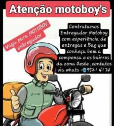 Contratamos motoboy