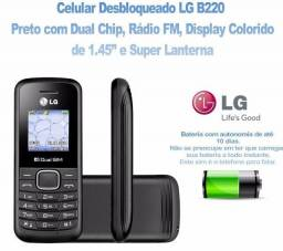Celular Lg-b220 2 Chips Radio Fm Lanterna Original Preto<br><br>