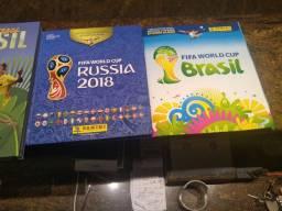 Álbuns 2014 Brasil e Copa 2018 Rússia.