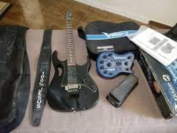 Vende-se Kit Guitarra Ibanez Japonesa + V-AmpII + Pedal Wah Wah (Profissional)