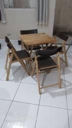 Mesa com 4 cadeiras Tramontina