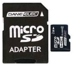Cartão memória micro sd e adaptador daneelec 2gb original