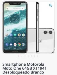 Motorola One usado com nota fiscal