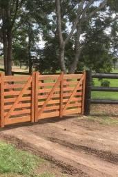 Cercas, mangueiras e portões