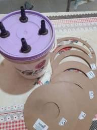 Inflador 4 bicos Tufão compressor de balões